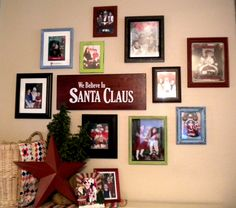 Great idea for all those past Santa pictures!