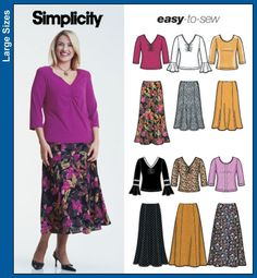 Simplicity 5469. Love the v-neck shirred front top B. Want to make this but add gathers to the sleeve cap on view B.