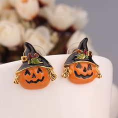http://www.aliexpress.com/store/product/Fashion-fashion-personality-cute-halloween-pumpkin-stud-earring-accessories-earring/239061_1731673410.html Find More   Information about Brand 2014 New  Fashion Multicolor Gold Plated Halloween Pumpkin  Stud Earrings Channel for Women in Jewelry accessories Gift,High Quality  ,China   Suppliers, Cheap   from Hawaii Arts Jewelry on Aliexpress.com