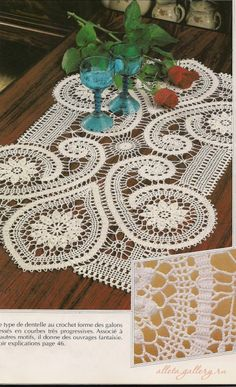Today we are going to take a look at a beautiful crochet lace tutorial. We are also going to try and make something just as beautiful as we can see on the photo Crochet Doily Patterns, Lace Patterns, Thread Crochet, Filet Crochet, Irish Crochet, Crochet Designs, Crochet Doilies, Knit Crochet, Bruges Lace