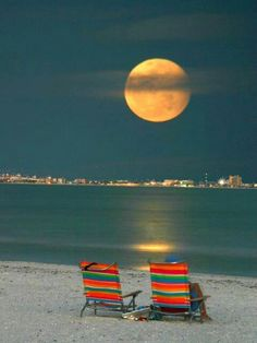 Wonderful orange blue sunset beach Design by http://photo-sharpen.com