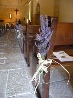 Church decorations in lavender!