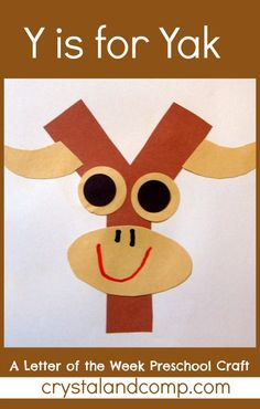 Y is for Yak: A Letter of the Week Preschool Craft #preschoolcraft #letteroftheweek
