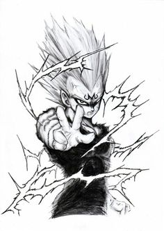 Tatto vegeta Pen Sketch, Sketches, Z Tattoo, Goku Drawing, Anime Tattoos, Pencil Art, Black Tattoos, Dragon Ball Z, Art Drawings