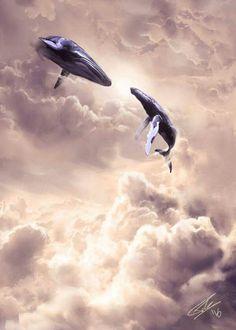 Whale sky