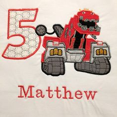So many Dinotrux shirts going out lately to so many little fans and birthday kids. Don't forget to order early - but if you need it quickly, there are rush options available.