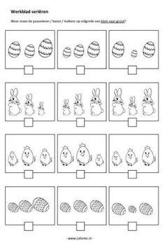 Thema Pasen | Juf Anke lesidee kleuters Diy For Kids, Crafts For Kids, Diy Crafts, Kindergarten Activities, Preschool, Easter Printables, Worksheets For Kids, Free Prints, Colouring Pages