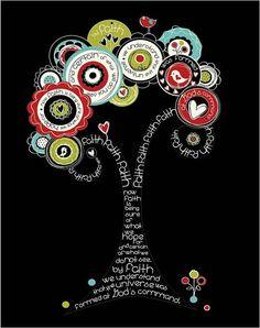 cool verse art - great idea for an ATC Scripture Art, Faith Is Bible verse, Christian art print (size- by amyleeweeks on Etsy Scripture Art, Bible Art, Bible Verses, Scriptures, Color Terciario, Lds, Artist Trading Cards, Christian Art, Smash Book