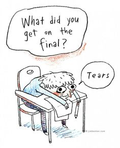 I'm so not excited for finals.... *groans*