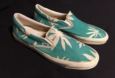 RARE! True Vintage 1980's VANS Slip On Shoes Men's 12 Made In The USA ((L@@K!)) #VANS #CasualShoes #Casual
