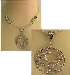 Silver Celtic Knot Tree of Life Necklace