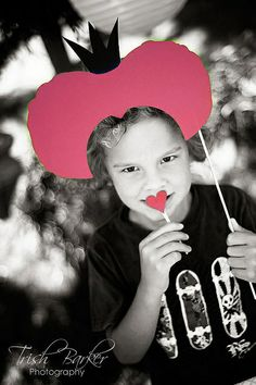 Queen of Hearts on a stick- Alice in Wonderland Party by windrosie, via Flickr