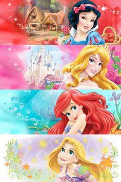 Princess and their home Disney Princess Names, All Disney Princesses, Disney Princess Birthday Party, Princess Birthday Invitations, Disney Princess Pictures, Disney Pictures, Disney Art, Walt Disney, Disney Frames