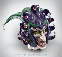 Medieval Joker Leather Helmet by Azmal