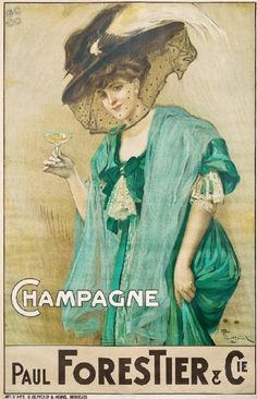champagne Paul Forestier & Cie - vers 1900 - illustration de F. Toussaint -