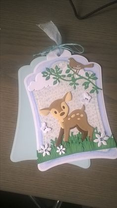 Christmas Cards To Make, Christmas Gift Tags, Kids Cards, Baby Cards, Marianne Design Cards, Handmade Tags, Animal Cards, Card Tutorials, Card Tags