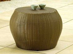 Rattan Side Table - Have a refreshing chilled beverage close to hand whilst you're enjoying the sun this summertime - by Living It Up