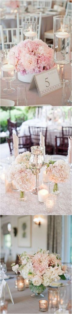 Elegant blush pink wedding centerpiece ideas #blushweddings #weddingdecor #weddingcenterpieces #weddingreception #weddingideas