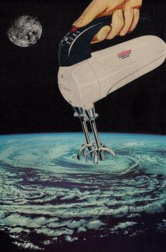 Joe+Webb,+Stirring+Up+A+Storm,+Original+Collage