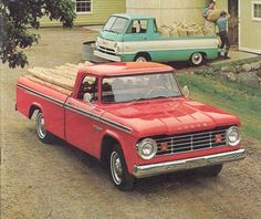 Our Dodge pickup was black with red accent stripes. A trip to Tahoe with a camper on it took us 8+ hours. Why? Transmission problems. Funny. We had traded a VW Squareback with a funky transmission for the truck. Who'd a thunk?