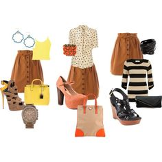 One Skirt: Three Outfits, created by lindsaymaek on Polyvore