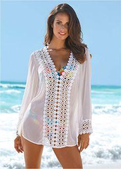 Tunika plażowa Prześwitujący materiał • 109.99 zł • bonprix