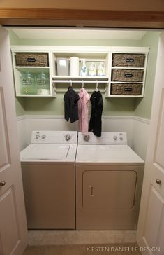 """This is what I really want to turn our entry way """"closet"""" into. Through the Front Door: our laundry closet makeover"""
