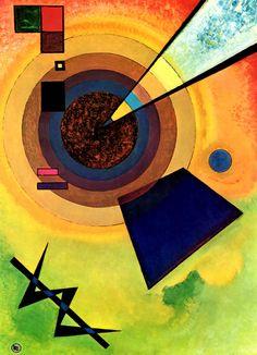 Wassily Kandinsky. Vert et Rouge, 1925 ●彡