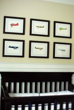"Red Letter Vintage Airplane Watercolor Print, 8""x10"""