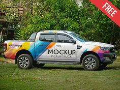 The freebie of the day is a Vehicle Pickup Truck Mockup that will help you showcase your branding design with realistic way. All you have to do is pla. Transporter Van, Hybrids And Electric Cars, Free Mockup Templates, Behance, Car Brands, Pickup Trucks, Pick Up, Branding Design, Vehicle Branding