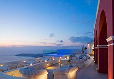Terrace looking out to the sea  ~ la maltese, santorini, greece 7