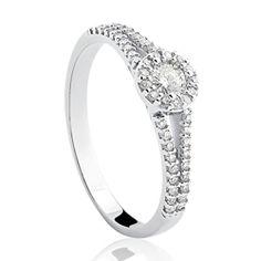 Solitário Ouro Branco e 50,5 Pontos de Diamantes