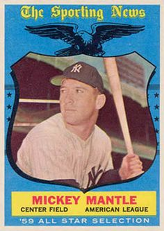 1959 Topps Mickey Mantle All Star card # 564