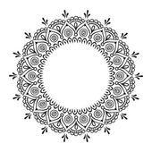 Buch-Malvorlagen für Kinder und Erwachsene. Handgezeichnete Entwurf abstrakten. Dekorative indische Runde Spitze verzieren mandala — Stockvektor #96847162