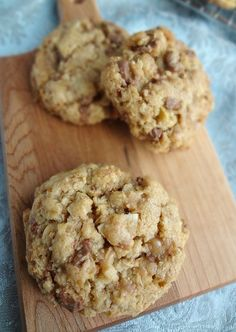 The Cooking Actress: Brown Butter Toasted Coconut & Toffee Cookies