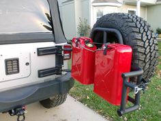 OR-FAB tire/gerry can carrier... Additions!