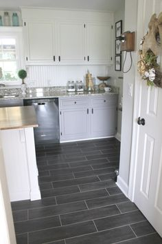 tile flooring kitchen pull out shelves for slate effect from the cavalio conceptline diy farmhouse remodel just over 5000 these bloggers are sharing their secrets on how they saved money