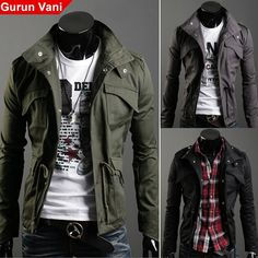 2012 New Arrival Men's Clothing GV Autumn and Winter Slim Male Casual Outerwear Fashion