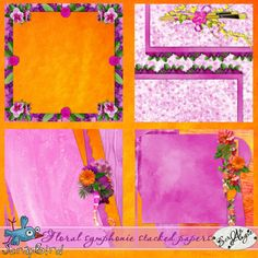Floral symphonie stacked papers by Scrap'Angie
