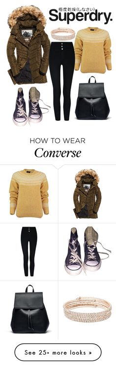 """""""The Cover Up – Jackets by Superdry: Contest Entry"""" by dani-gracik on Polyvore featuring Superdry, Lowie, Converse, Sole Society and Anne Klein"""