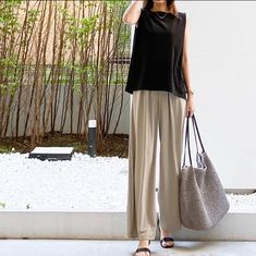 Sport Casual, Casual Wear, Casual Outfits, Japanese Fashion, Uniqlo, Simple Style, Harem Pants, Style Inspiration, Boho