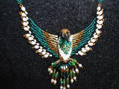 Vintage collar de nativos americanos de cuentas por OwlsFlyVintage