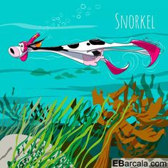 Summer and fashion cows. Cows, Snorkeling, Summer, Fashion, Illustrations, Moda, Summer Time, Fashion Styles, Summer Recipes