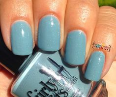 Girly Bits Stormy Skies  Dusty blue-grey with colour changing micro glitter.