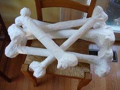 Large bone paper mache tutorial