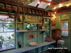 inside potting shed photos | Inside the potting shed -- is this cute or what? | Garden art