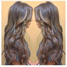Caramel and Gold Highlights for Brown Hair