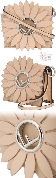 Brilliant Luxury ♦ Fendi Kan I F micro pink leather bag