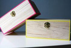 DIY Neon Edged Boxes