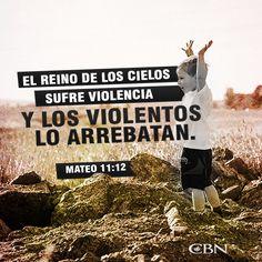 Mateo 11:12 Desde los días de Juan el Bautista hasta ahora, el reino de los cielos sufre violencia, y los violentos lo arrebatan.♔
